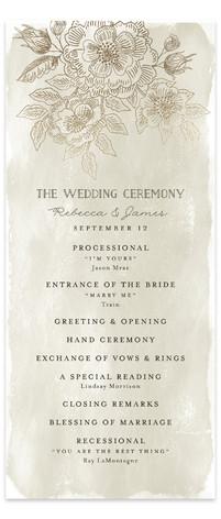 Wedding Etching Foil-Pressed Wedding Programs