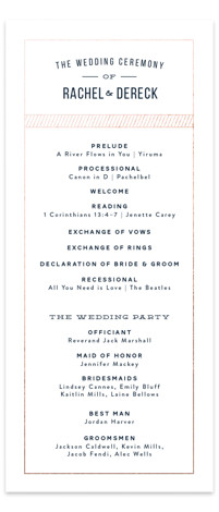 Nautical By Nature Foil-Pressed Wedding Programs