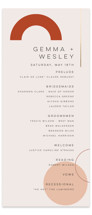 This is a orange unique wedding program by Morgan Kendall called Bauhaus Shapes with foil-pressed printing on signature in standard.