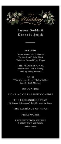 Stacked wedding Foil-Pressed Wedding Programs