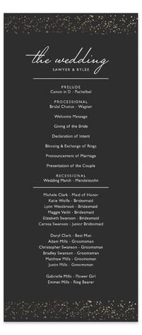 Glittered Wedding Frame Foil-Pressed Wedding Programs