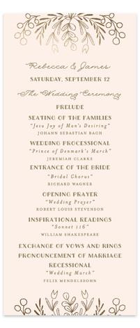 Wedding Vines Foil-Pressed Wedding Programs
