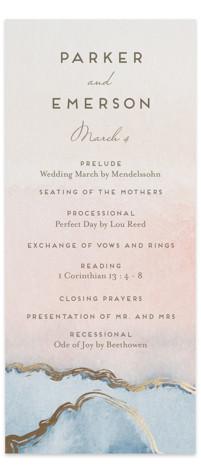Simple Agate Foil-Pressed Wedding Programs