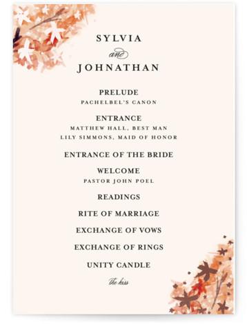 Grecian Floral Foil-Pressed Wedding Programs