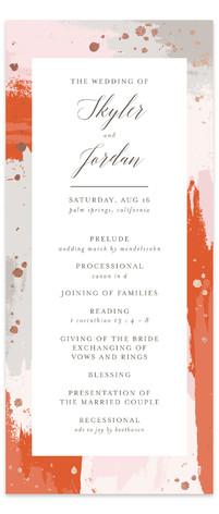 The Artist's Wedding Foil-Pressed Wedding Programs