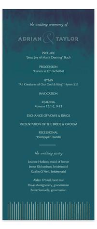 Sunburst Foil-Pressed Wedding Programs