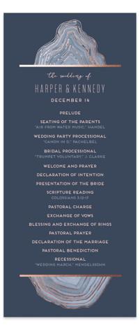 Modern Agate Foil-Pressed Wedding Programs