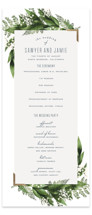 This is a green unique wedding program by Leah Bisch called Diamante with foil-pressed printing on signature in standard.