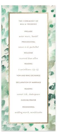painted wedding Foil-Pressed Wedding Programs