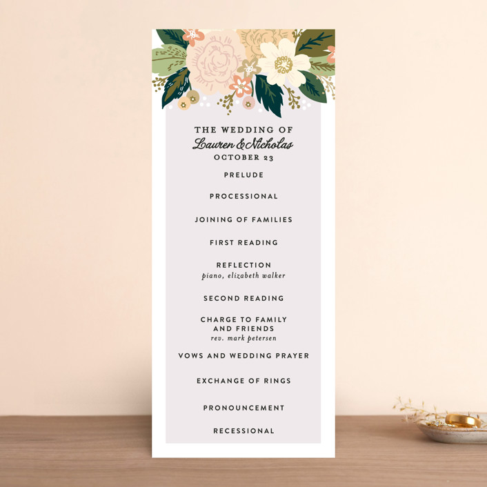 """Classic Floral"" - Floral & Botanical Wedding Programs in Spring Blush by Alethea and Ruth."
