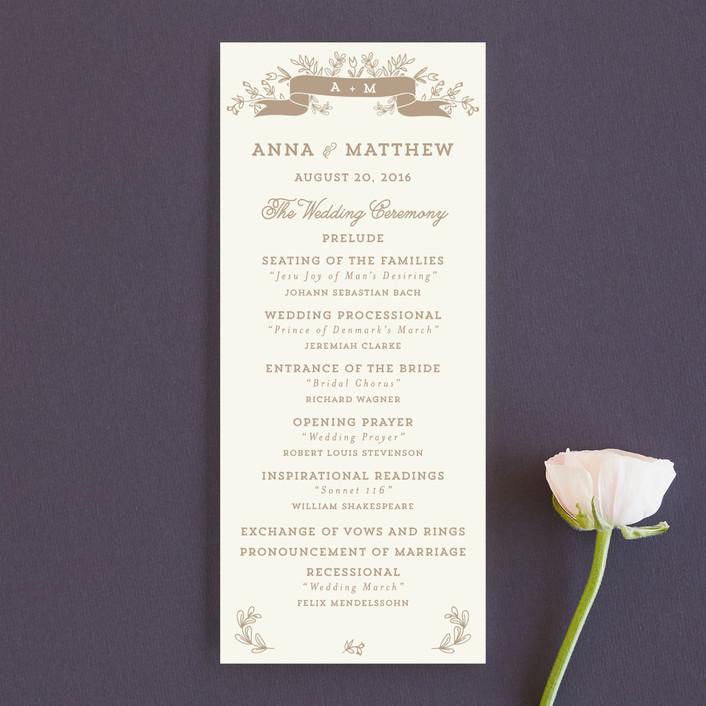 """Wedding Bouquet"" - Monogrammed, Floral & Botanical Unique Wedding Programs in Petal by Chris Griffith."
