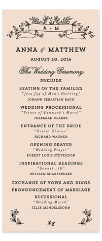 Wedding Bouquet Wedding Programs