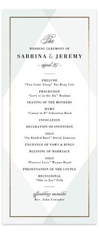 Creme Brulee Wedding Programs