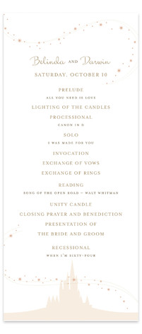 Enchanted Stars Wedding Programs