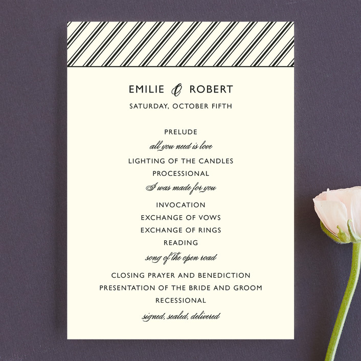 """Moments Captured"" - Simple Unique Wedding Programs in Ivory by Carrie Eckert."