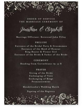 The Wedding Bouquet Wedding Programs