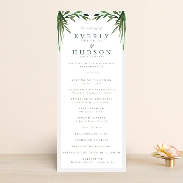 """Botanical Frame"" - Wedding Programs in Fern by Kate Ahn."