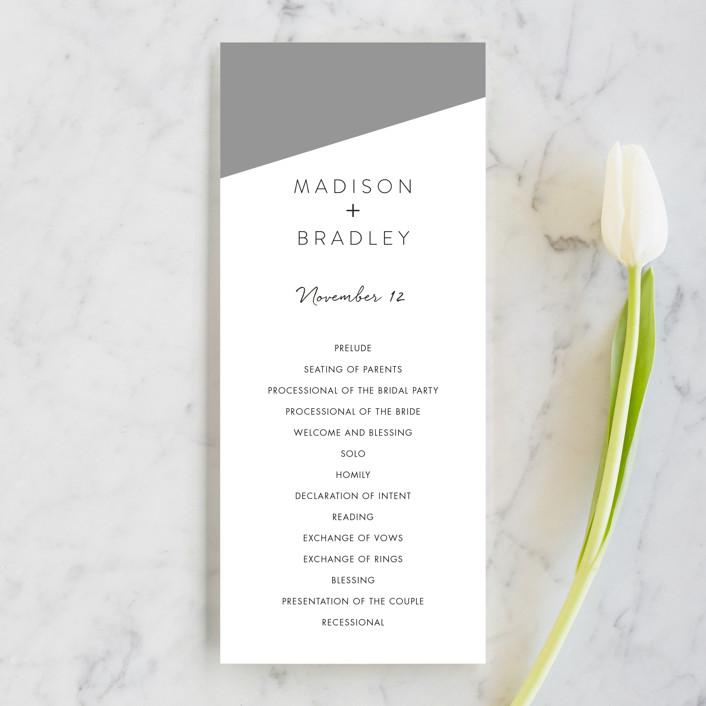 """Metropolitan Romance"" - Unique Wedding Programs in Midnight by Makewells."