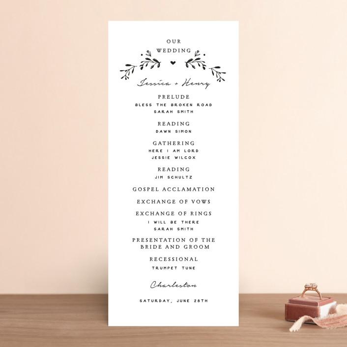 """Charleston"" - Wedding Programs in Tuxedo by Susan Brown."
