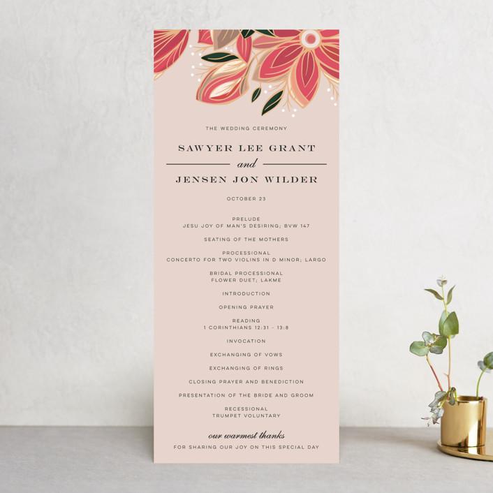"""""""Sawyer"""" - Wedding Programs in Cloisonné by Melanie Kosuge."""