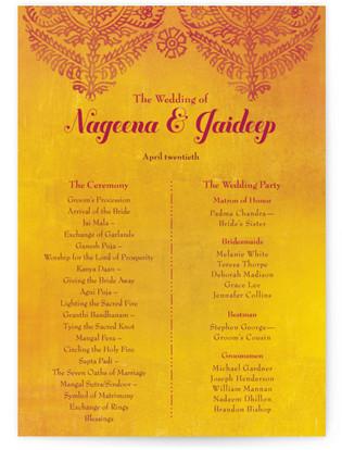 Anand Karaj Wedding Programs