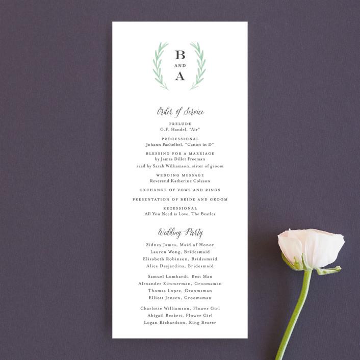 """Painted Leaves"" - Wedding Programs in Evergreen by Olivia Raufman."