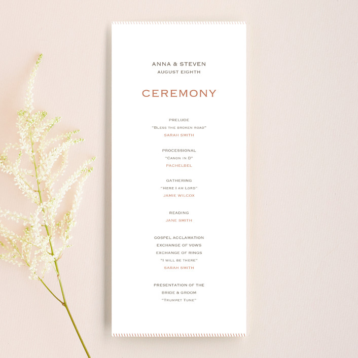 """""""Forever Panoramic"""" - Simple, Modern Unique Wedding Programs in Mocha by Stacey Meacham."""