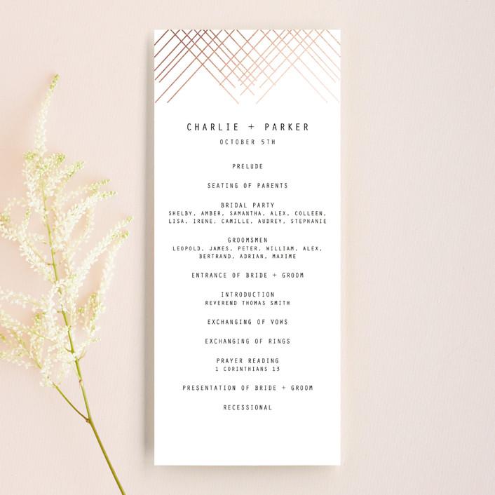 """BOLD AS LOVE"" - Simple, Modern Wedding Programs in Noir by DESIGN X FIVE."