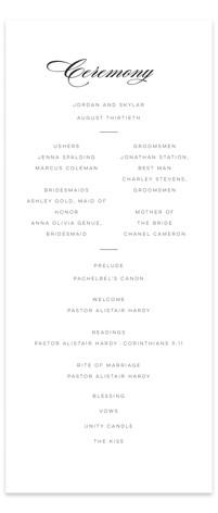 Waltz Wedding Programs