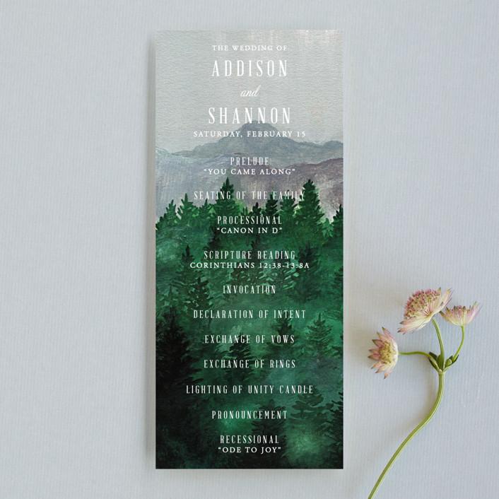 """Adventure Awaits"" - Rustic, Destination Wedding Programs in Smoke by Elly."
