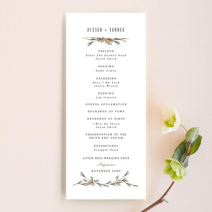 """""""Rustic Wedding"""" - Rustic Wedding Programs in Pine by Susan Brown."""