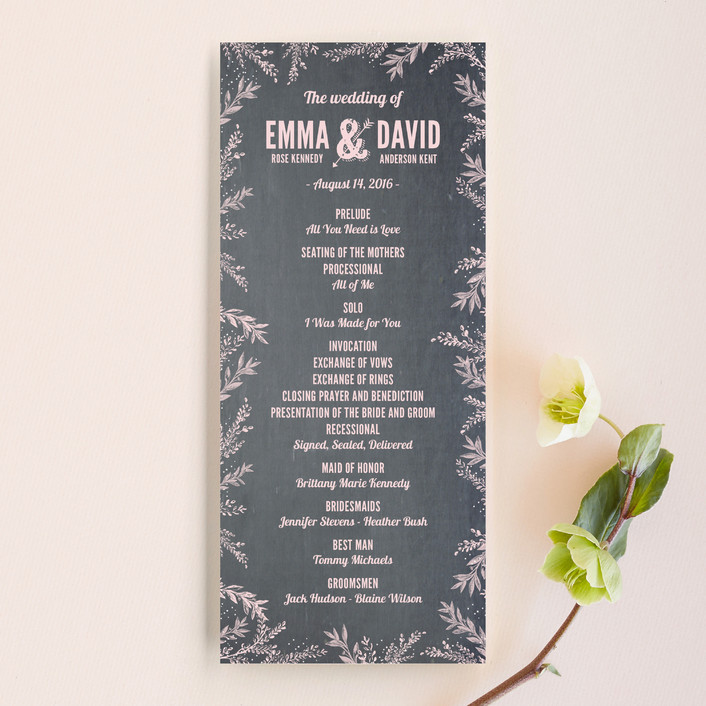 """Woodland Romance"" - Rustic Unique Wedding Programs in Blush by cadence paige design."
