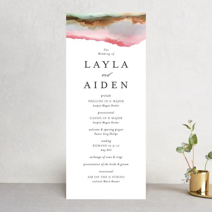 """Sedona"" - Unique Wedding Programs in Desert Sands by Itsy Belle Studio."