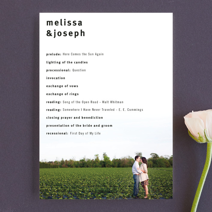 """""""A Sweet Afternoon"""" - Unique Wedding Programs in Slate by Jack Knoebber."""