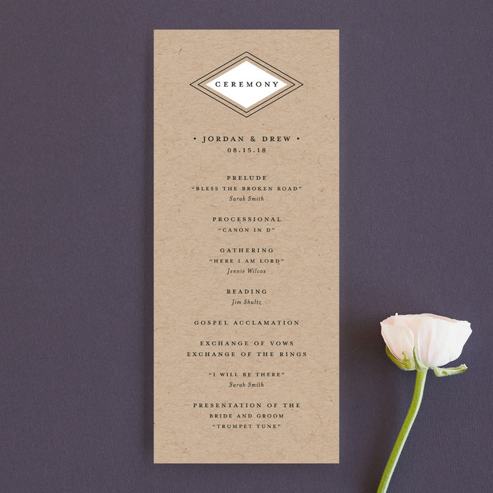 """Modern Elegance"" - Modern Unique Wedding Programs in Mint by Stacey Meacham."