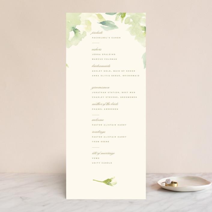 """Southern Garden"" - Wedding Programs in Moss by Lori Wemple."