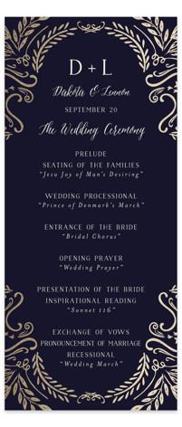 Wedding Enchantment Wedding Programs