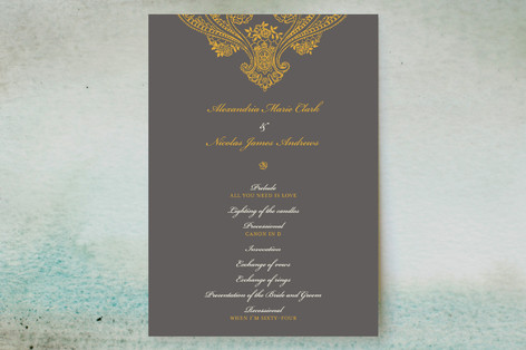 Spanish Lace Unique Wedding Programs
