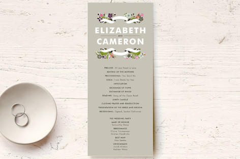 Banner and Branches Unique Wedding Programs
