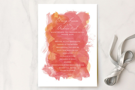 Aquarelle Unique Wedding Programs