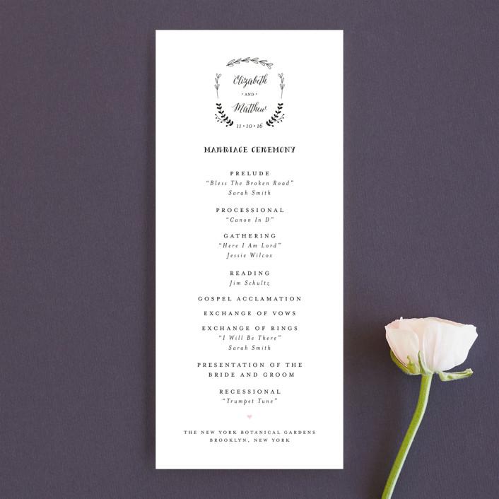 """Always"" - Wedding Programs in Blush by Susan Brown."