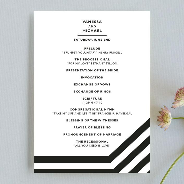 """""""Desenfadado"""" - Bold typographic, Simple Wedding Programs in Black Ink by Aspacia Kusulas."""