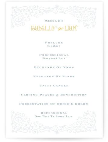 Once Upon Wedding Programs