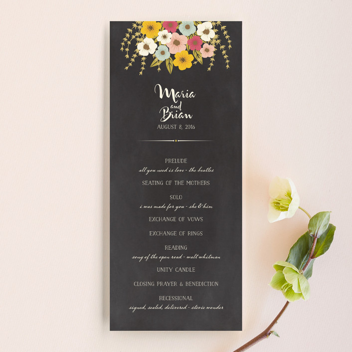 """Plentiful Blossoms"" - Floral & Botanical, Rustic Unique Wedding Programs in Soft Peach by Faiths Designs."