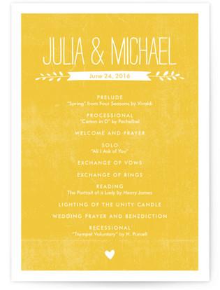 Quite Simply Wedding Programs