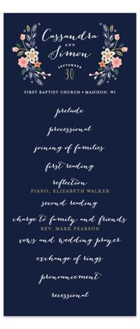 Wildflower Crest Wedding Programs