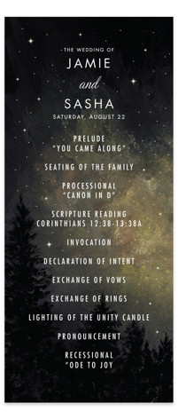 Starry, Starry Night Wedding Programs