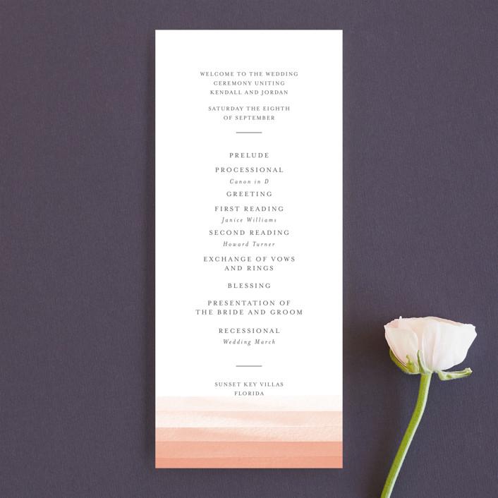 """Watercolour Stripe"" - Unique Wedding Programs in Azure by Bethan."