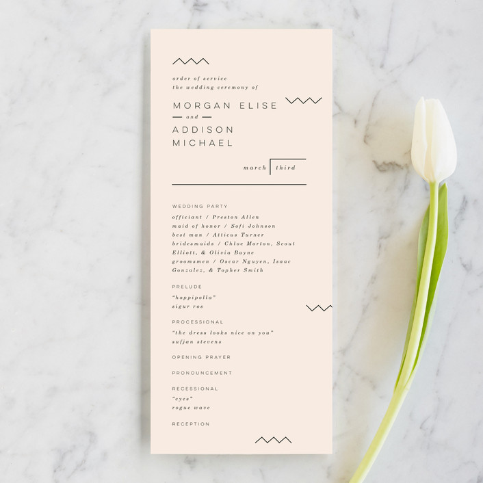 """Adagio"" - Wedding Programs in Lilac by Moglea."