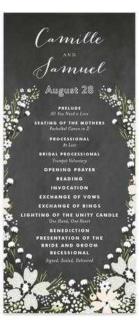 Wildflower Bouquet Wedding Programs